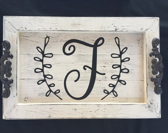 Personalized Decorative Serving Tray-Initial