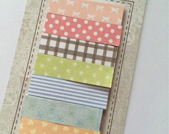 7 marks book in decorated paper for scrapbooking