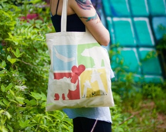 Colors for Conservation Multi-Animal Tote