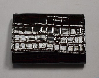 Black lacquer lacquer business card holder