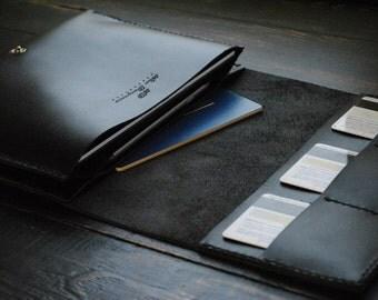 Personalized clutch Custom leather clutch Personalized clutch purse Black clutch for men Black leather clutch for women Mens clutch leather