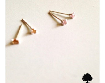 925 Sterling Silver Dainty Stud Earrings 2mm CZ- Affordable Gift for yourself or her-Jewellery for Kids-low cost  shipping