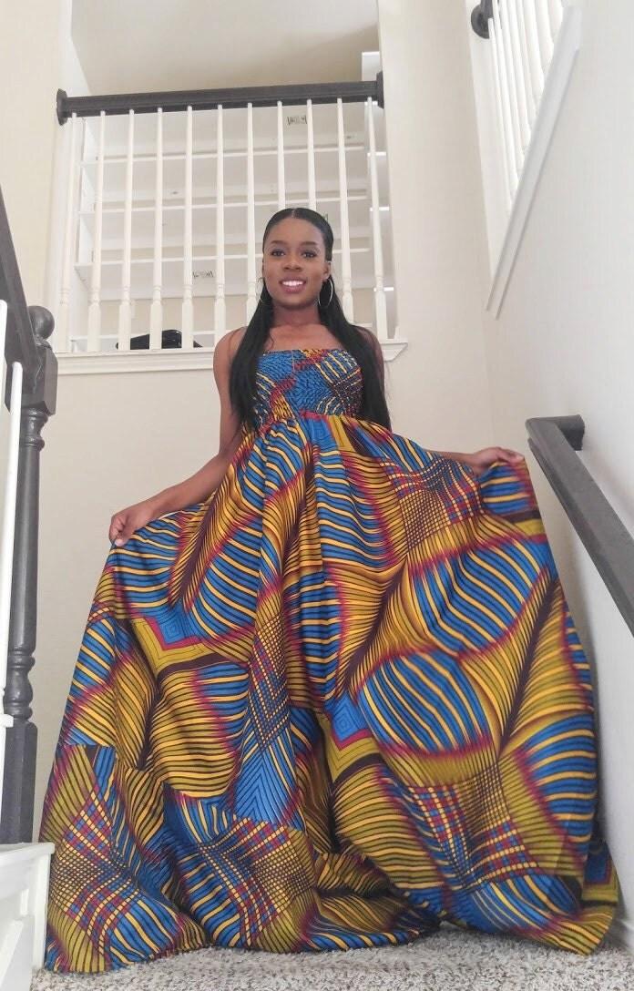Africa dress African Print dress African maxi dress African