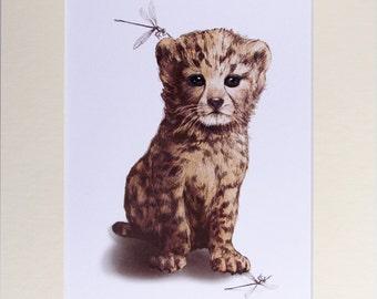Little Cheetah Print (A3 Mount)