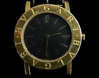gold bulgari wristwach