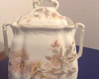 Biscuit jar porcelain marked