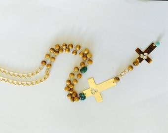 Long Necklace double cross