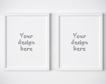 "Set of 2 frame, 11x14"", White frame mockup, Digital product mockup, Mock-up, Artprint mock up, Styled stock, Wall art mockups, Stock images"