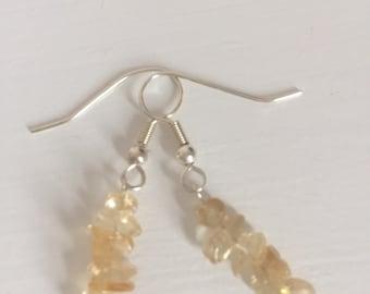 Citrine Nugget Earrings