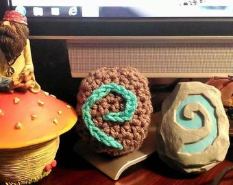 Small crocheted hearthstone keychain Warcraft