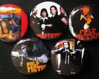 Pulp Fiction Button set of 9