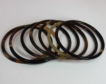 Horn bangle bracelet - Buffalo horn bangle - Horn jewelry -  KAI-3699