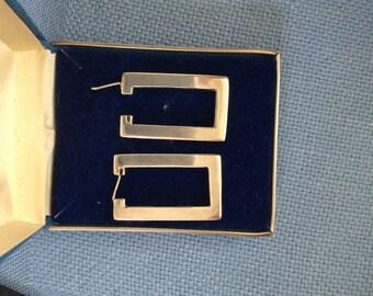 Ladies Vintage Handmade Sterling Silver Earrings - #606