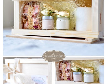 """The """"Rose garden"""" spa gift set hamper with natural skin care and soaps for her"""
