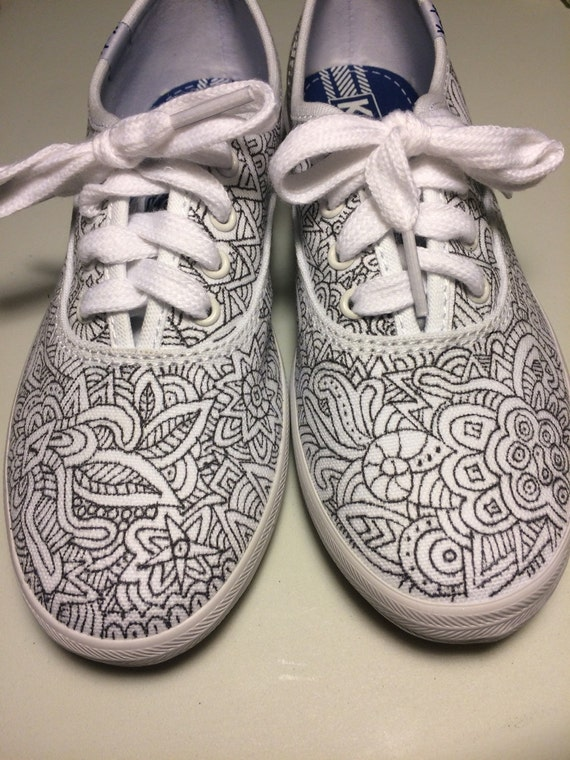 custom designed tennis shoes zentangle shoes for the