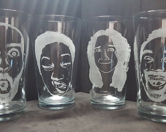 Funny Face Pint Glass: Your Own Silly Face On A Glass!