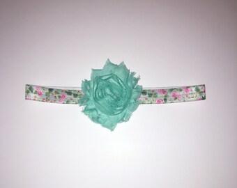 Mint shabby flower