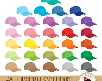 Baseball cap / baseball hat Clipart - Instant Download