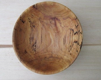 Spalted Maple Bowl made from local Arkansas Maple Wood. The artist lines in the grain gives this bowl a very distinctive appearance.