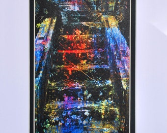Abstract Art Steps Photograph 5x7 matted