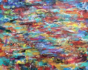 Modern Abstract mix media painting