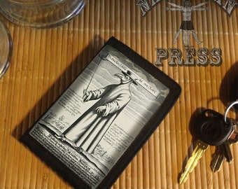 Plague Doctor, Black TriFold Wallet