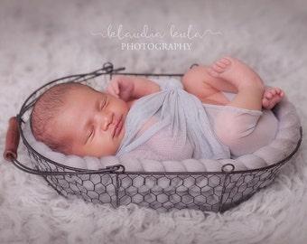 wire basket newborn photography prop