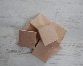 "Wood Squares...Wood Tiles...1.75"" Tile...DIY.."