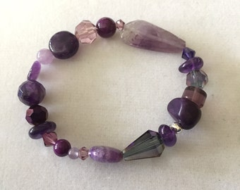 Purple Gemstone Bracelet