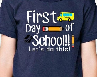 Back to school shirt / kids first day of school shirt / fun school shirt / school tee / school t shirt / fun school tee / back to school tee