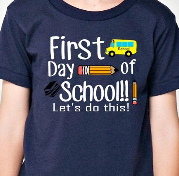 Back To School Shirt Kids First Day Of By