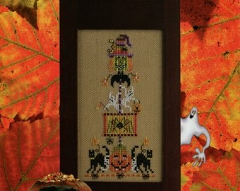 Just Nan ** Ghoulies & Ghosties ** Halloween cross stitch pattern