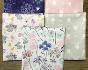 Bunnies Like to Make Wishes Too ~ Lewis & Irene Fat Quarter Bundle - 5 Fat Quarter Bundle