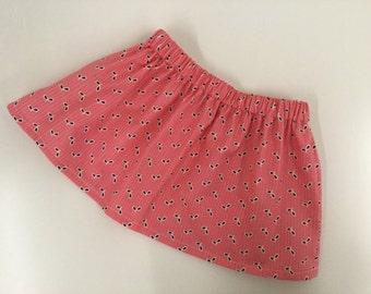 Girl's skirt, toddler skirt, girl's cotton skirt,