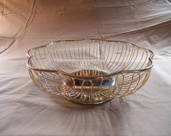 Silver Plated Wire Fruit Bowl