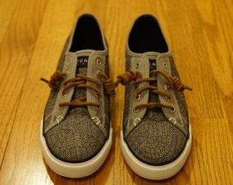 Custom, Hand-Made, Boat Shoes, Women's, Original, Unique, Sneakers, Hand-Designed