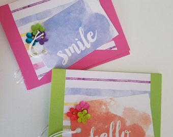 watercolor designed friendship cards,