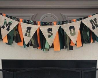Camo Rag Banner Camo Birthday Banner Camo Party Garland