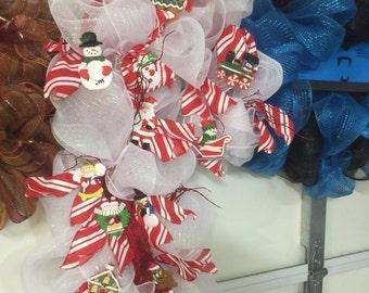 Candy Cane Shape Wreath