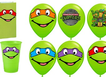TMNT Ninja Turtles Printables for Balloons, INSTANT DOWNLOAD, Ninja Turtles Mask Party Decorations, Ninja Turtles Birthday Balloons