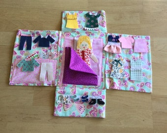Flat doll quiet book, free shipping