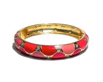 Multi-Toned Pink Bracelet with Rhinestones