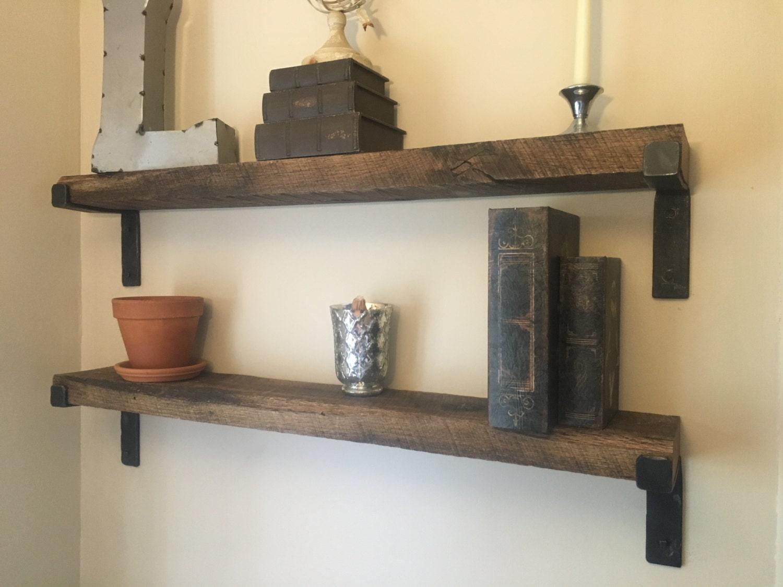 Rustic Shelf With Hand Made Brackets Each Shelf Made To Your