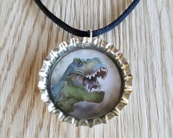 10 Dinosaur Necklaces Party Favors