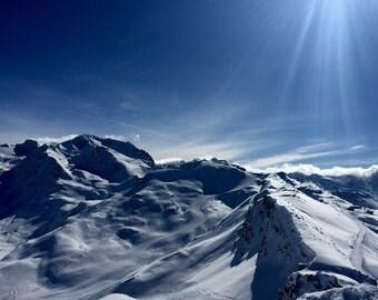 Sun and snow...