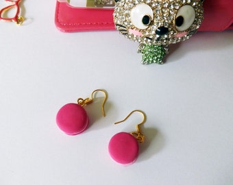Earrings polymer clay buttons