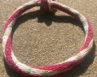 Kumihimo friendship bracelet-- 32 strand spiral and horizontal pattern