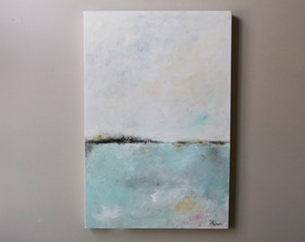 Acrylic abstract painting,original abstract,modean,landscape,sky,seascape,soft colors,monotone
