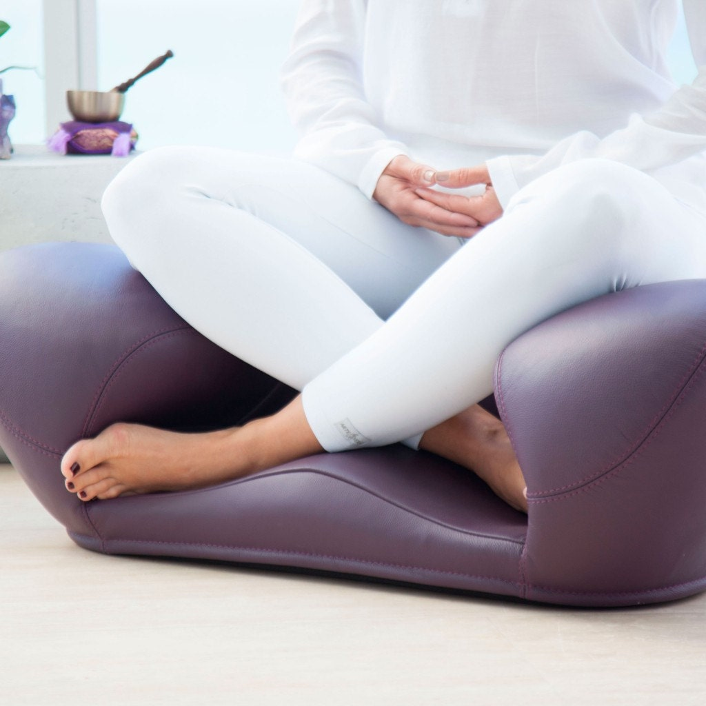 100% Leather Meditation Seat Zen Yoga Ergonomic