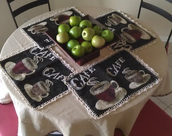 Crocheted Table Cloth Set